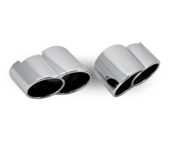 Porsche 911 996 Turbo Pair of Chrome Tailpipes (06-8601)