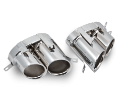 Audi R8 Tailpipes - Polished Stainless Steel Pair (x2)